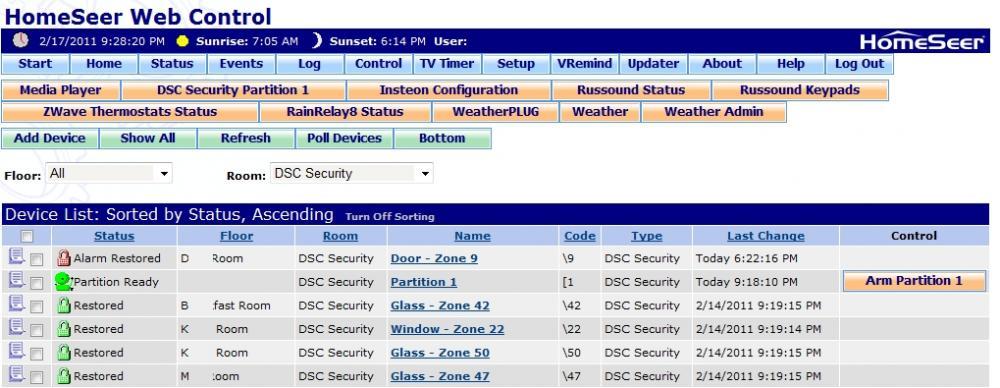 DSC Plugin Beta 2 0 0 7 - HomeSeer Message Board