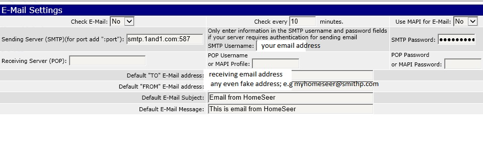 Setting Up Email in HomeSeer PRO - HomeSeer Message Board