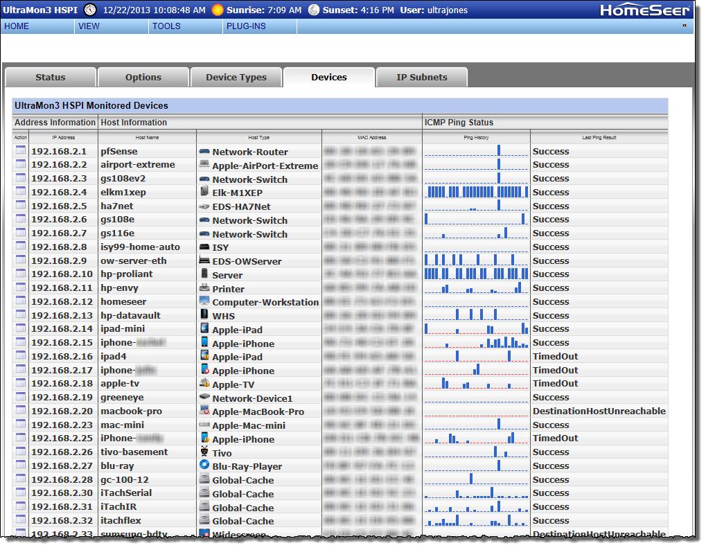 UltraMon3 (Network Monitor) For HomeSeer3 - HomeSeer Message