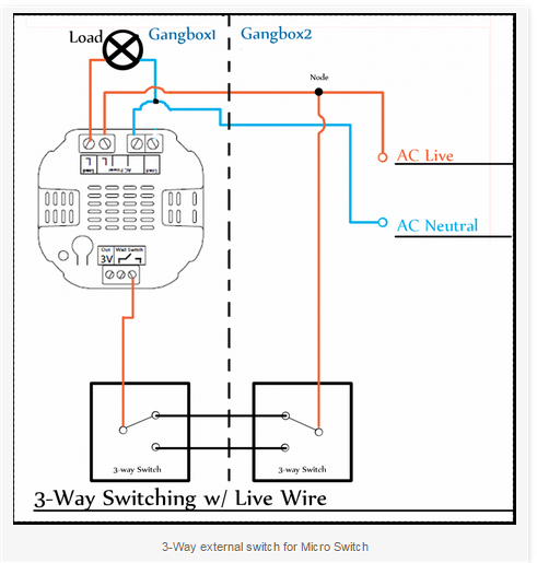 Aeotec Micro Switch and 3-Way Lighting - HomeSeer Message Board on 3 way light switch, three switches one light diagram, volume control wiring diagram, 3 way switch cover, 3 way switch schematic, four way switch diagram, easy 3 way switch diagram, 3 way switch getting hot, 3 way switch installation, two way switch diagram, 3 way switch wire, gfci wiring diagram, 3 way switch troubleshooting, 3 way switch lighting, 3 way switch help, 3 way switch with dimmer, circuit breaker wiring diagram, three way switch diagram, 3 wire switch diagram, 3 way switch electrical,