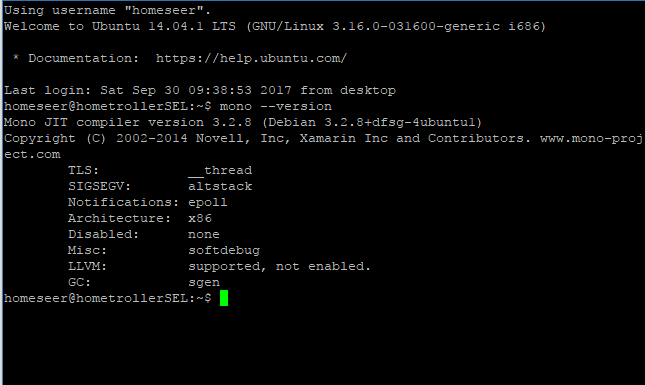 Update SEL to latest mono - HomeSeer Message Board