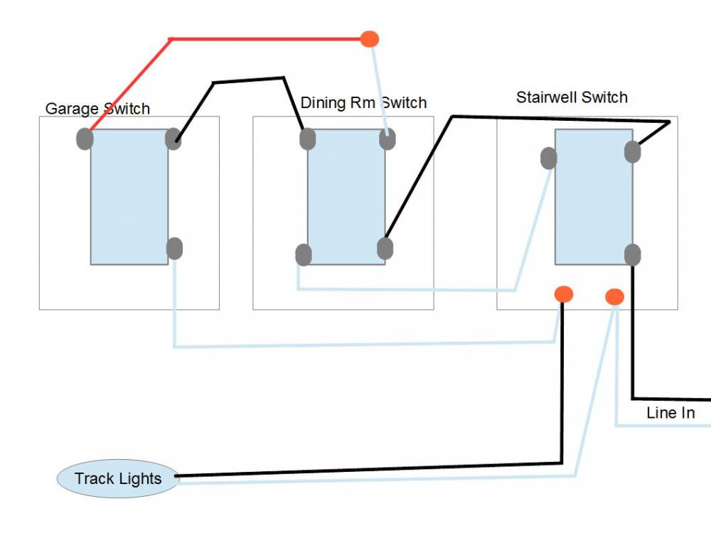 confused on 4 way switch wiring