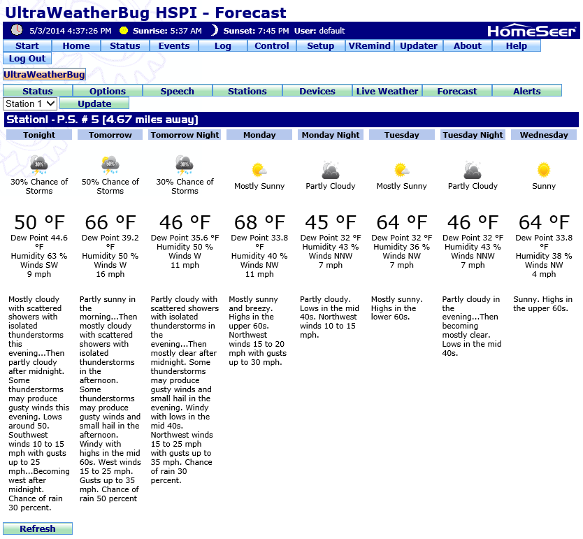 UltraWeatherBug for HS2 / New WeatherBug Pulse API
