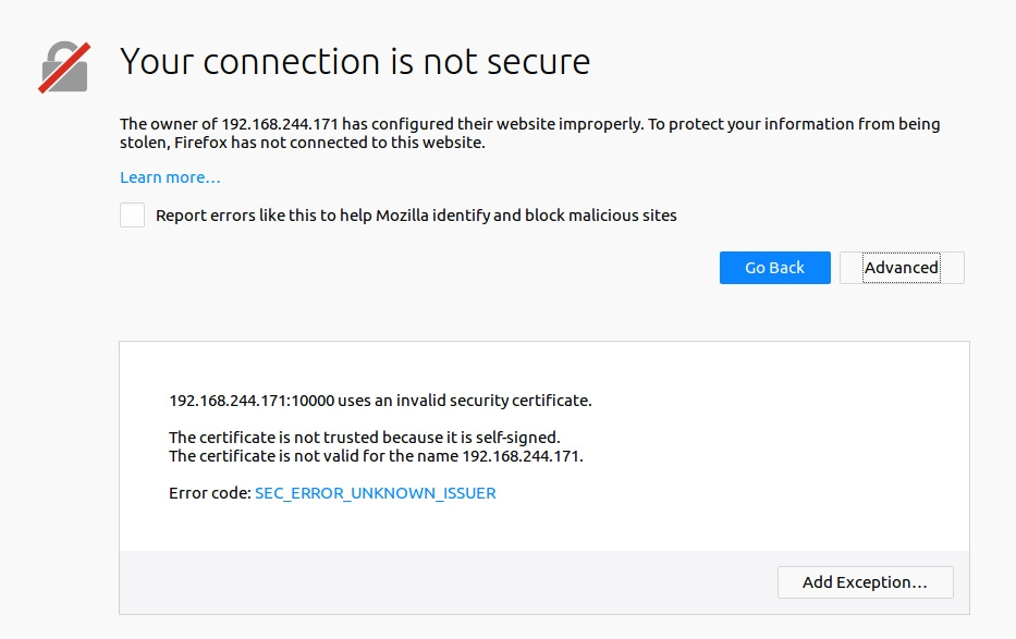 Replace Webmin Self Signed Certificate To Avoid