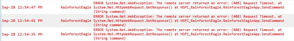 408 Request Timeout Errors - HomeSeer Message Board