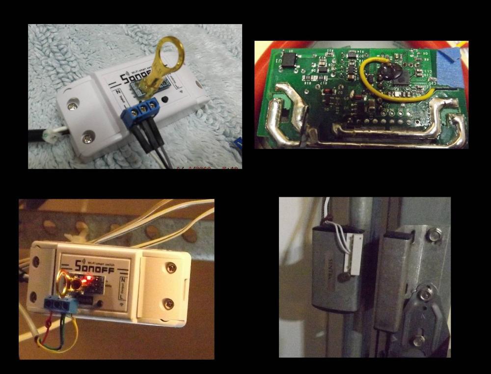 SonOff WiFi Basic GDO multisensor - button - temperature sensor