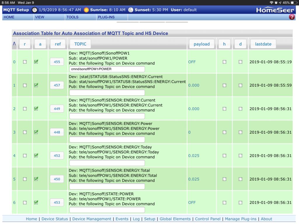 mcsMQTT Plugin - HomeSeer Message Board