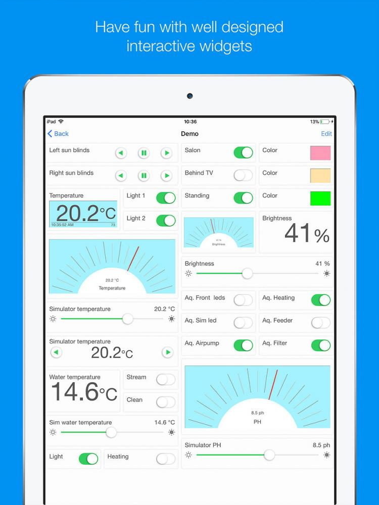 Interesting MQTT user interface for iOS and Android