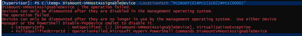 How To: Direct pass through of USB Z-Wave interface to Hyper-V guest